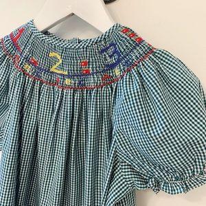 Other - Back to School Smocked Bishop Dress